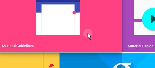 Snygg feedback till besökaren från Google Designs webbplats